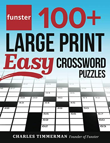 Funster 100+ Large Print Easy Crossword Puzzles