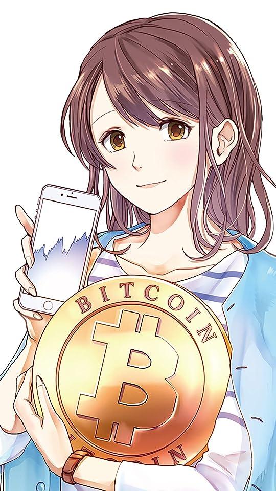 仮想通貨 マンガでわかる ビットコイン&仮想通貨投資の基本 藤田あやみ QHD(540×960)壁紙画像