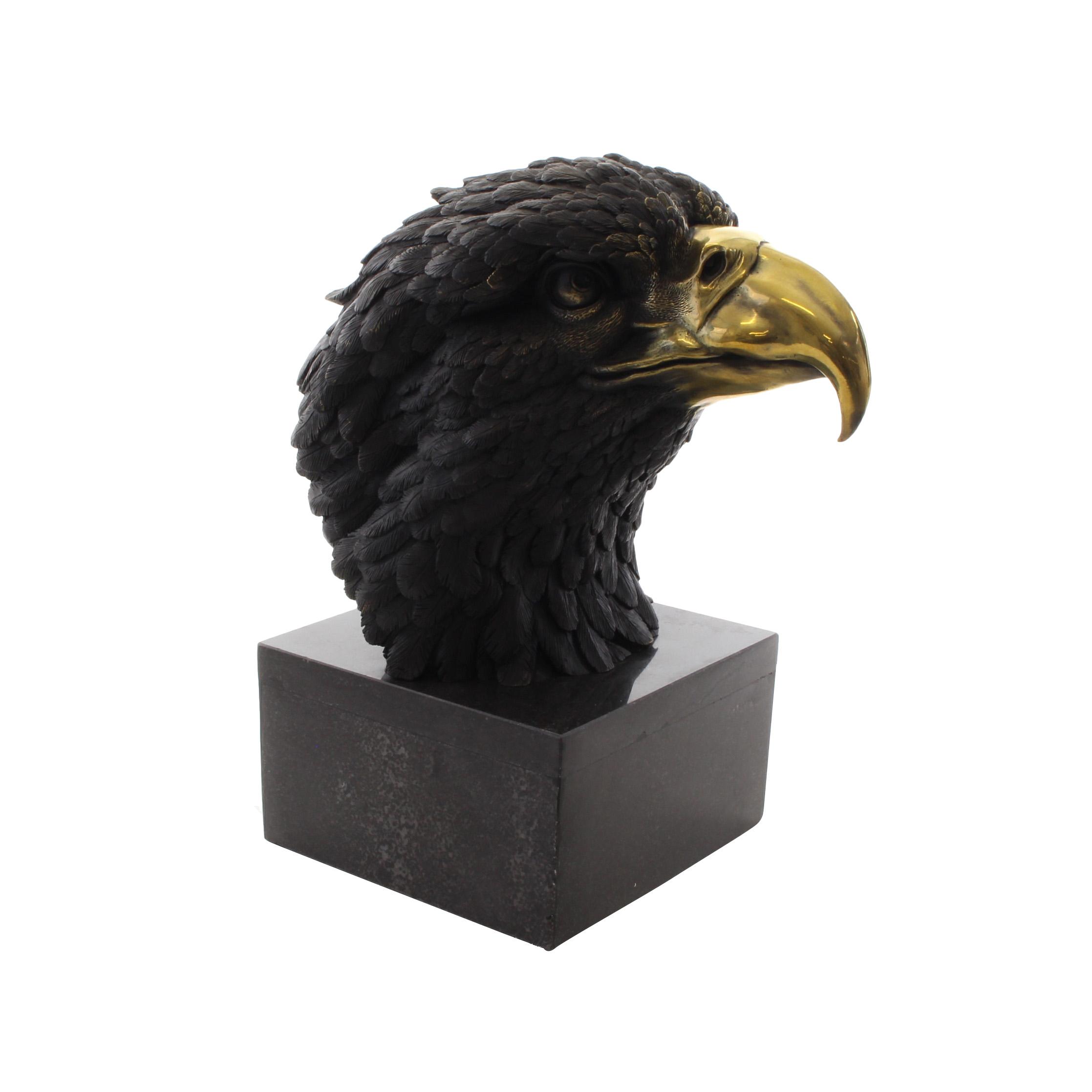 Bronze Antiques Bronzeskulptur Eule Uhu Vogel Bronze Bronzefigur Figur Skulptur 27cm