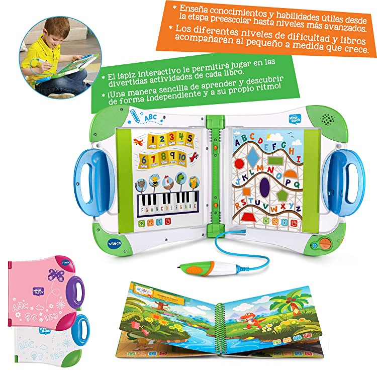 MagiBook, sistema de aprendizaje interactivo a través de libros para aprender a leer, resolver problemas, descubrir (mientras juegas) palabras nuevas, ...