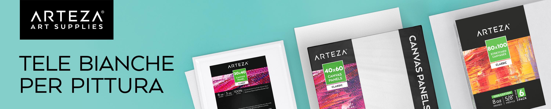 per Colori Acrilici e ad Olio Pittura Fluida e altre Tecniche Umide Confezione da 12 Tele Pittura Pronte 100/% Cotone Prive di Acidi ARTEZA Tela per Dipingere Nera Intelaiata da 8x10 Pollici