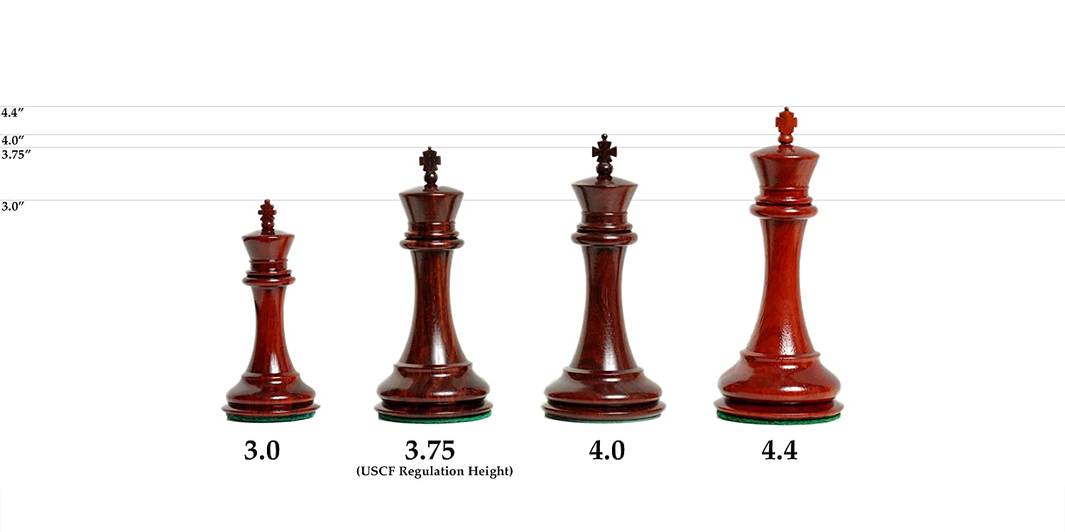 "Pieces Only Green Guilded 4.0/"" King The Grandmaster Chess Set"