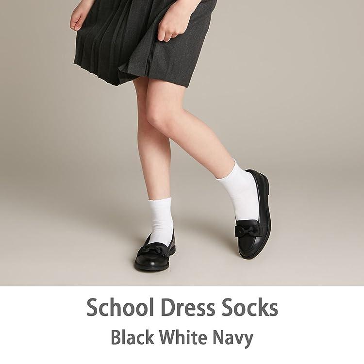 COTTON DAY 6 Pairs Boys /& Girls School Dress Socks