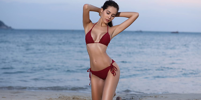 Amazon com: SHEKINI: Tie Side Bikini