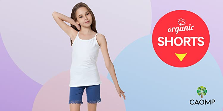 41597f0c53649f CAOMP Girls'%100 Organic Cotton Leggings for School Play