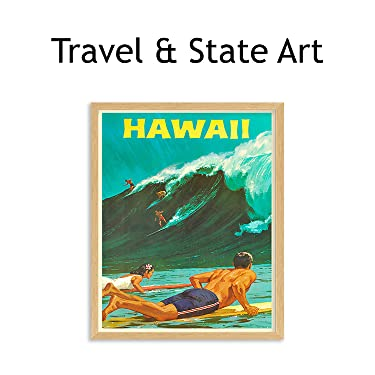 travel & state wall art