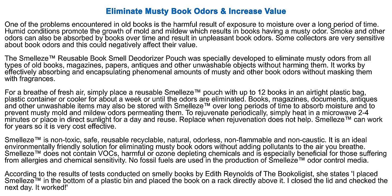 Amazon com: SMELLEZE: Book Odor