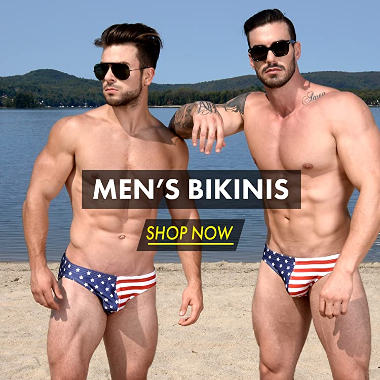 Gary Majdell Sport Mens Cheeky Brief Bikini Swimsuit