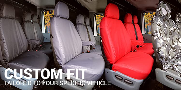 Ford Transit Van 2000-2013 Tailored Waterproof Blue Camouflage Front Seat Covers