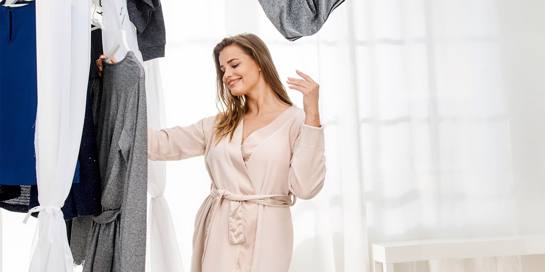 LOVABLE Bordeaux Dressing Gown Vestaglia Donna