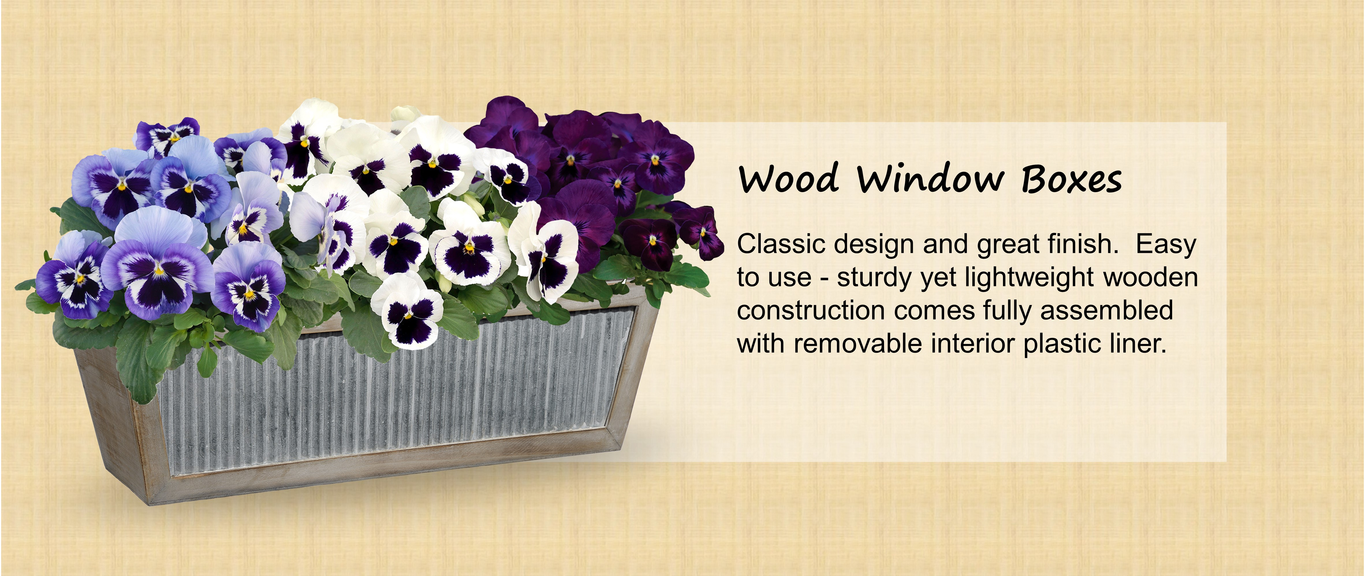 Amazon Com Classic Home And Garden Wood Window Boxes