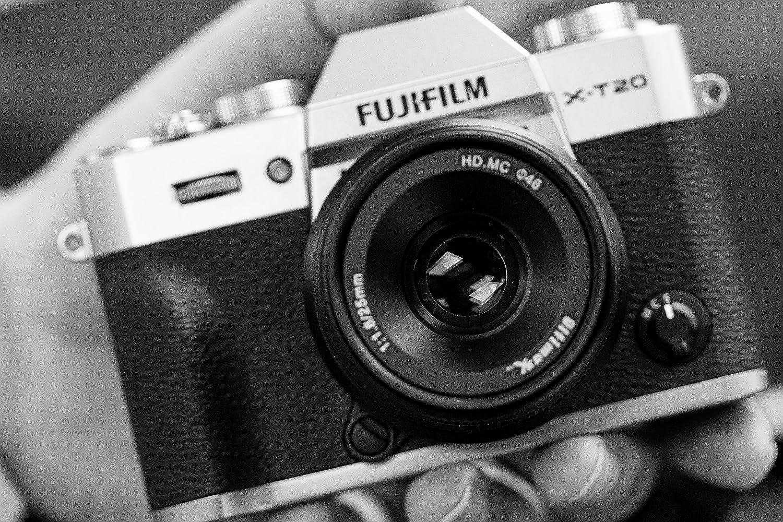 Ultimaxx 25MM f//1.8 Manual Lens for Fujifilm Mirrorless Cameras Fuji X-A1 X-A10 X-A2 X-A3 X-at X-M1 XM2 X-T1 X-T10 X-T2 X-T20 X-Pro1 X-Pro2 X-E1 X-E2 X-E2s