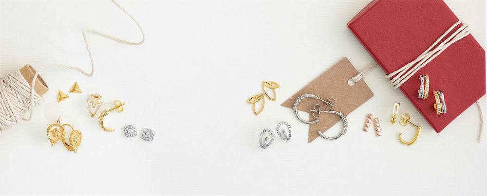 Diamond2Deal 925 Sterling Silver Claddagh Mini Earrings 9x9mm