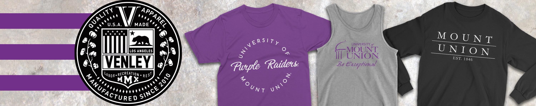 Official NCAA University of Mount Union RYLMTU04 Mens//Womens Boyfriend Long Sleeve Tee