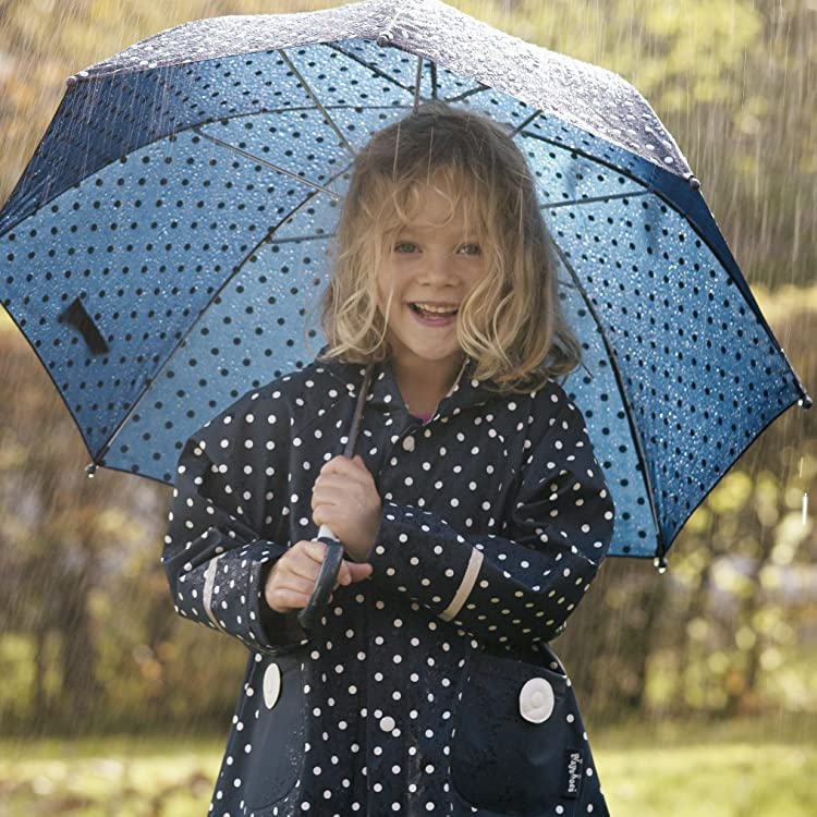 Playshoes Girls Stars Allover Rain Set Raincoat