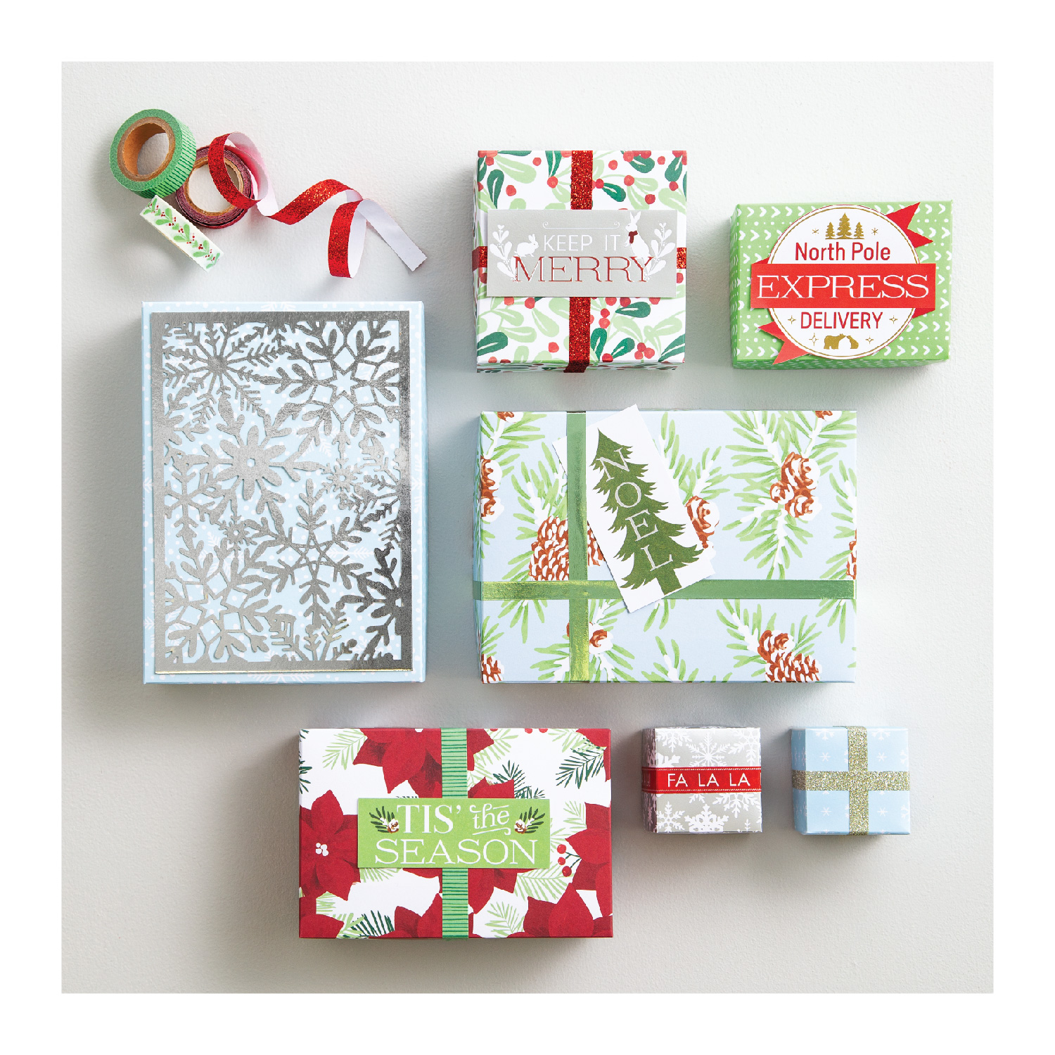 Multicolor Martha Stewart 30068356 Laser Cut Christmas Icons Paper Shapes