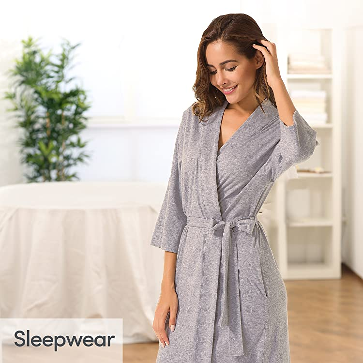 Best Sellers from SIORO. SIORO Women s Kimono Robes Cotton Lightweight Bath  Robe Knit ... 83b0a5cbf