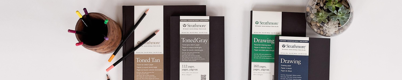 469-8 STR-469-8 128 Sheet No 80 Toned Tan Art Journal, 8.5 by 11, 8.5x11, 64 Strathmore