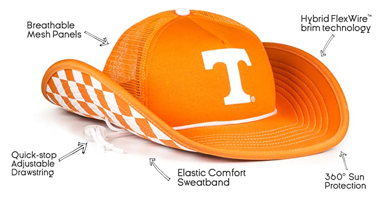 premium selection 5d81a 7be10 360-degree brim, mesh back paneling, lightweight fabric, a comfort-fit  sweatband to keep you dry— these hats were made to beat the game day sun!