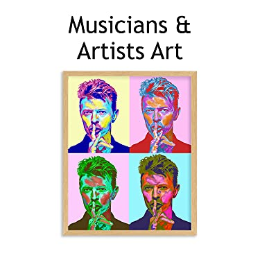musicians & artists wall art
