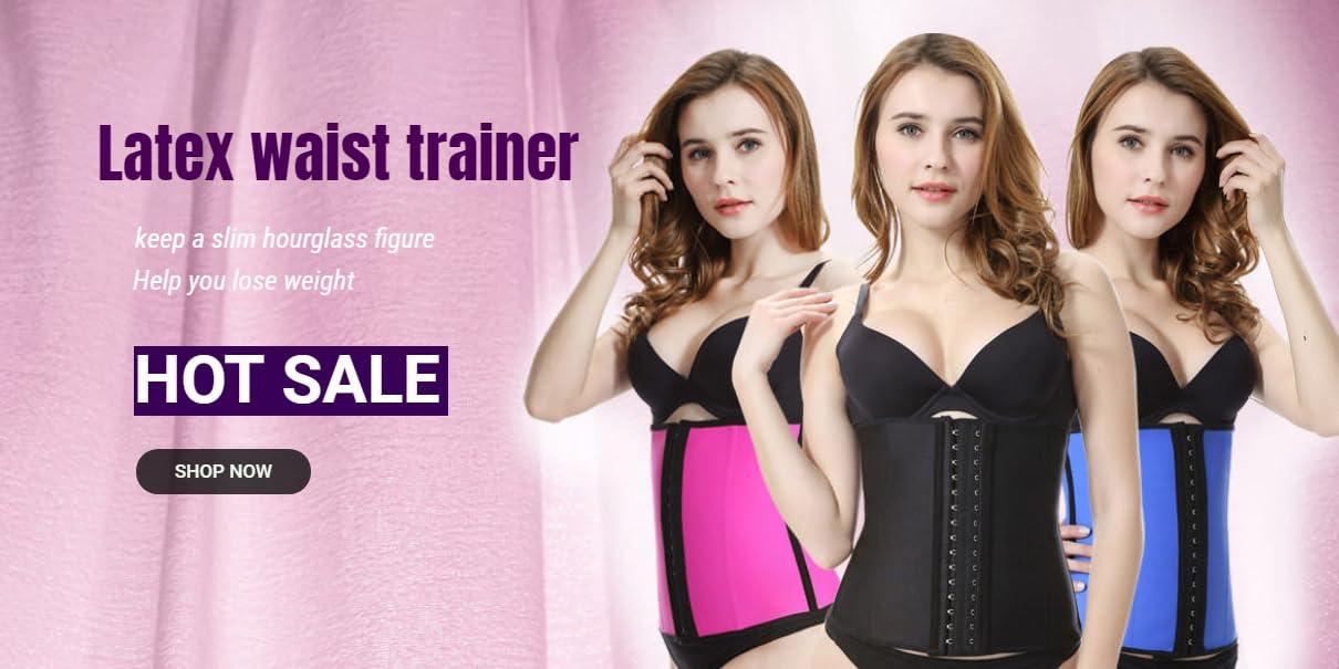 79838f09b58dc Everbellus Breathable Latex Corset Training Waist Cincher Women