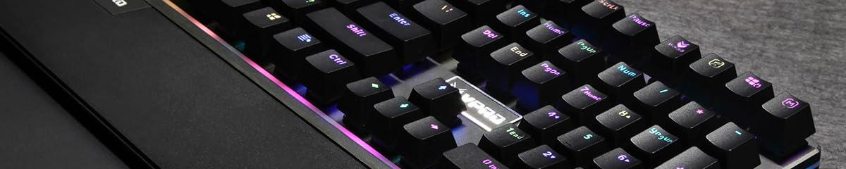 Rapoo Gaming Keyboard V56s Black PC vPro Gaming RGB: Amazon