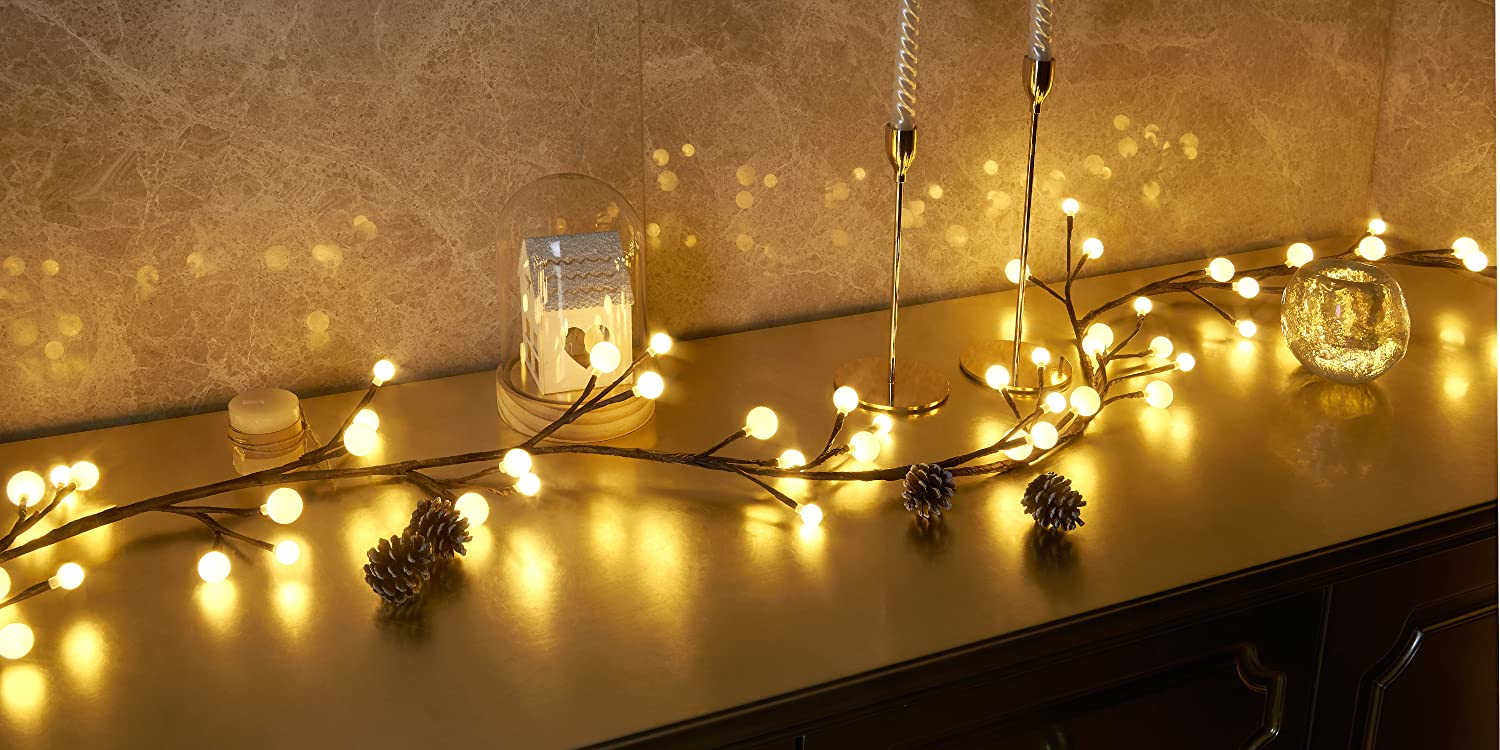 EAMBRITE/21/Light/12Inch/Classical/Gold/Bethlehem/Star/Treetop/for/Home/Party/Holiday/Winter/Xmas/Decorations