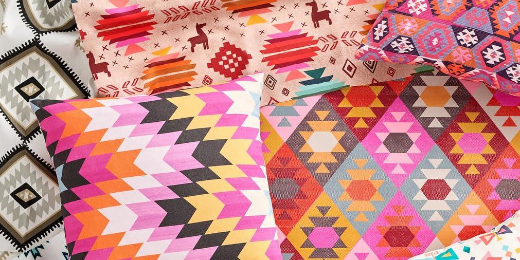 Tablecloth Kilim Squares Native Aztec Ikat Tribal Geometric Ethnic Cotton Sateen