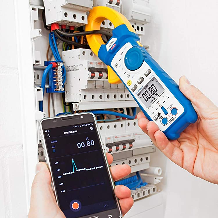 T/ÜV//GS Pince de Courant Efficace 1000A AC//DC avec Lumi/ère LED Max 600 V Multim/ètre Num/érique PeakTech 1665 6000 counts Pince de Courant Voltm/ètre Testeur de Continuit/é Amp/èrem/ètre