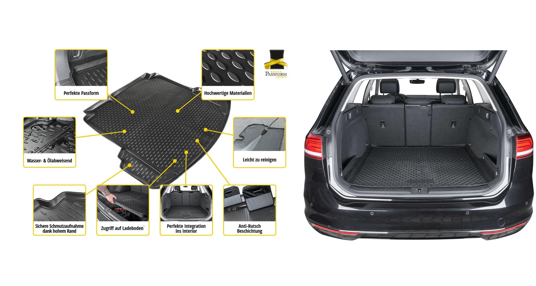 Relingtr/äger offene Reling Skoda Superb SW ab 2015 VDP Dachbox schwarz Juxt 400 Dachkoffer 400 Liter abschlie/ßbar