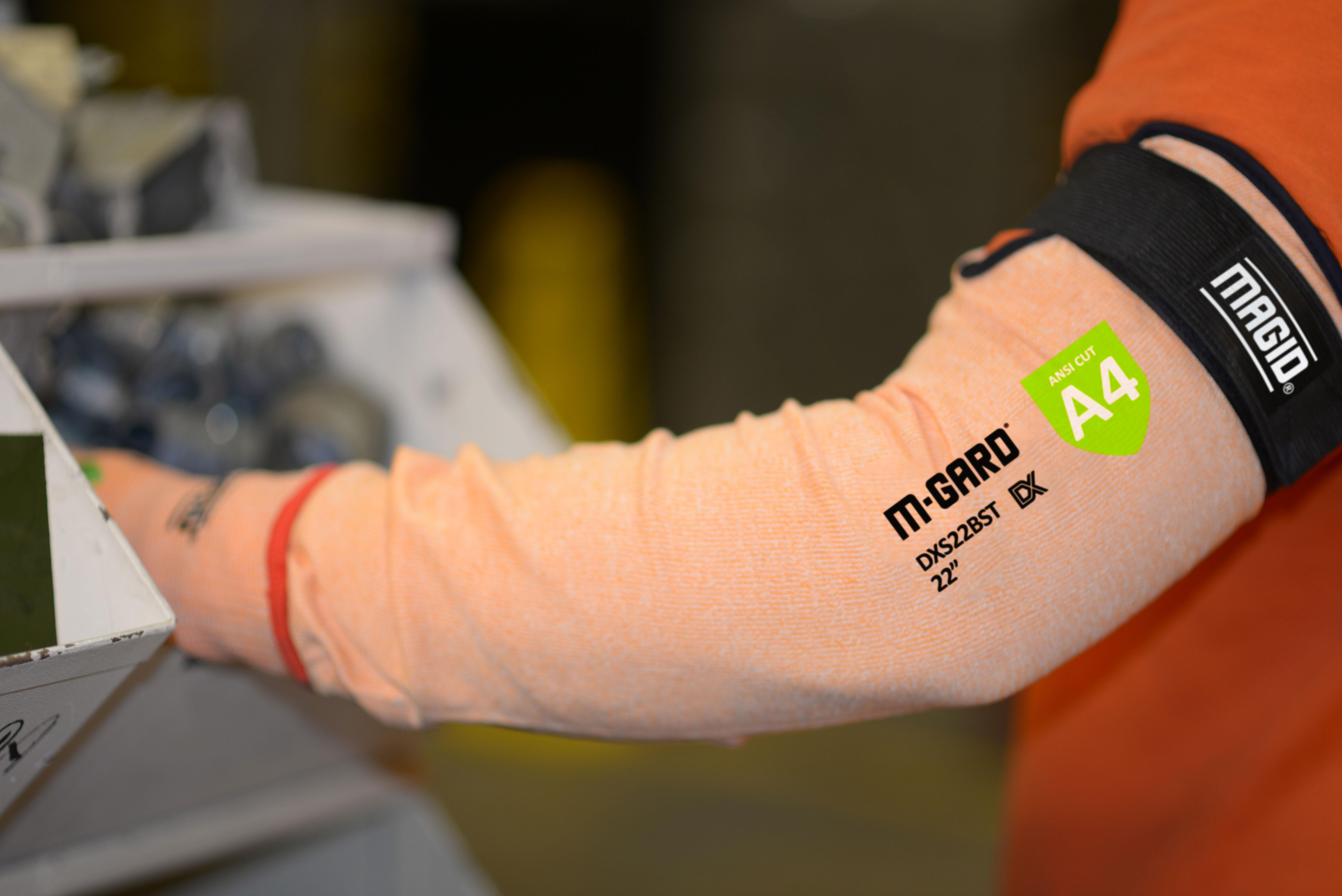 1 Sleeve Magid Glove /& Safety AXTFR143S CutMaster Aramax XT Flame Resistant Sleeve Cut Level 4