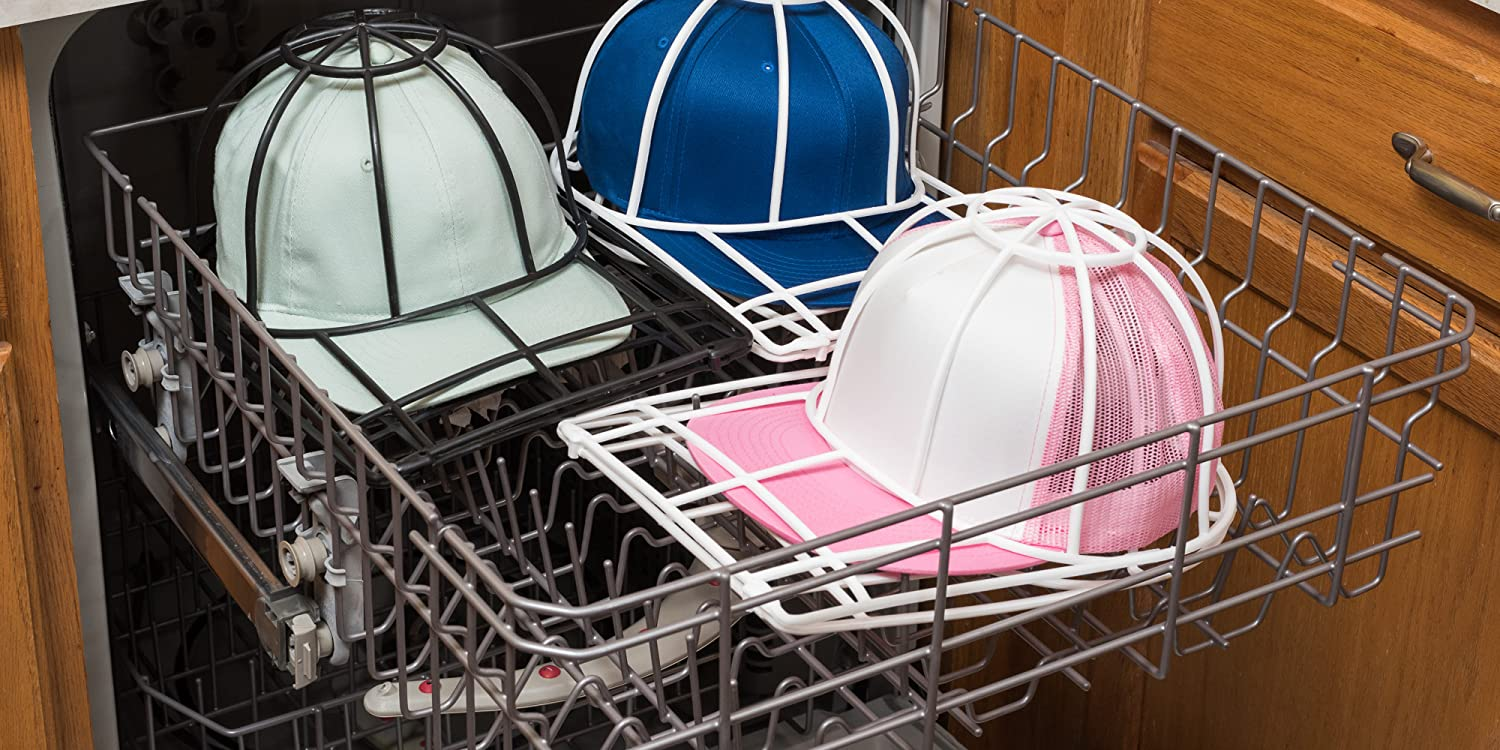 Wash all your caps in the top rack of the dishwasher