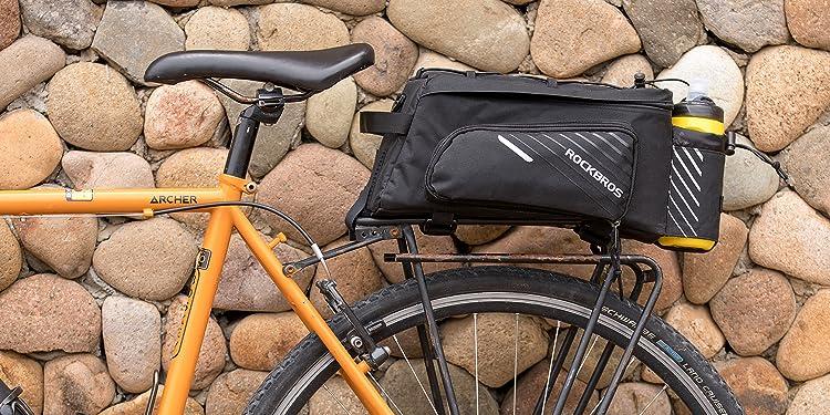 ROCKBROS Gep/äcktr/ägertasche 100/% wasserdichte Hinterradtasche Fahrradtasche f/ür Gep/äcktr/äger Vorne//Hinten mit Schultergurt 12-16L