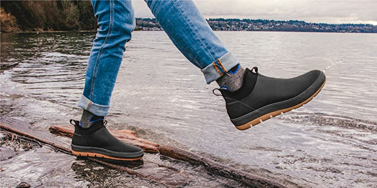 Staheekum Mens Waterproof Ankle Chelsea Boot with Neoprene