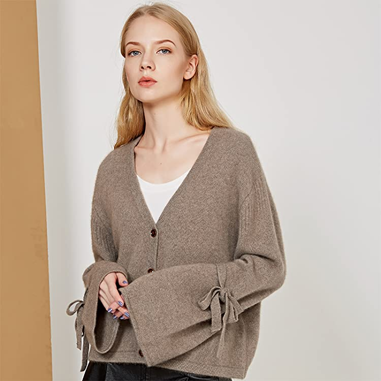 7eee5b3908 Chesslyre Women s 100% Cashmere Cardigan Sweater Oversized