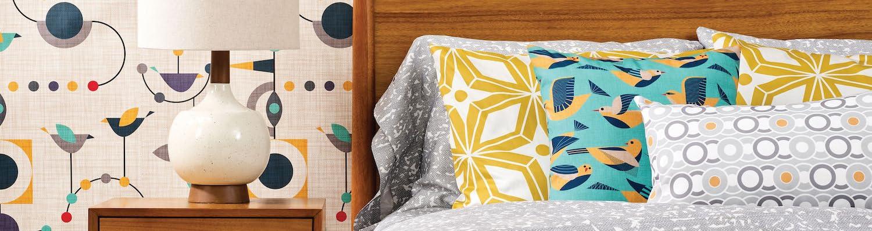 Amazon Com Spoonflower Home Mid Century Bedding