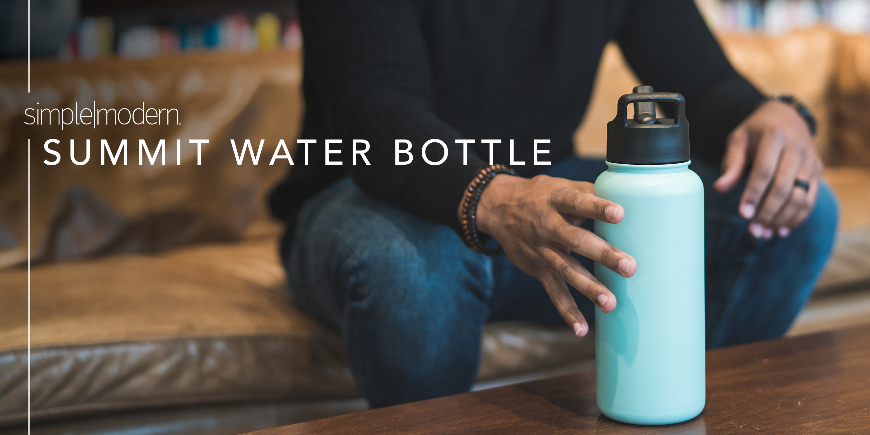 Simple Modern 32oz Summit Water Bottle with Straw Lid Gifts for Men Women Dads Leakproof Travel Tumbler Stainless Steel Auburn Tigers