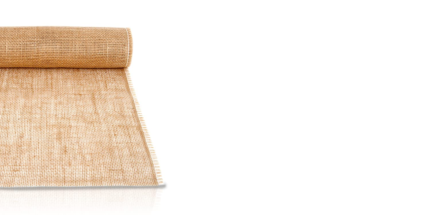Vintage Table Decoration 30 cm Wide Natural Jute Table Runner 10 Metre Long Roll GRUBly Burlap Table Runner With Bonus Decor Ideas ebook. Double Reinforced Seams to Prevent Fraying