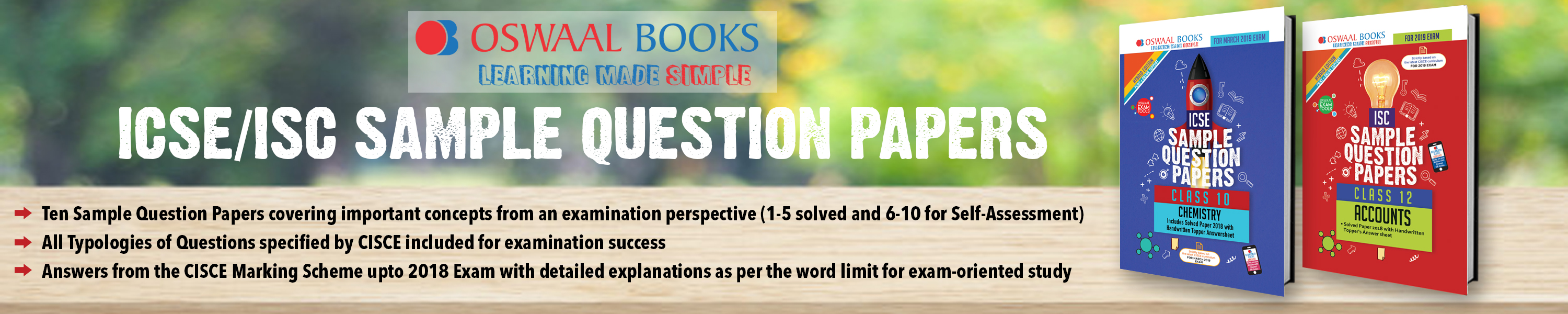 Amazon in: Oswaal Books: ISC-ICSE Sample Question Paper