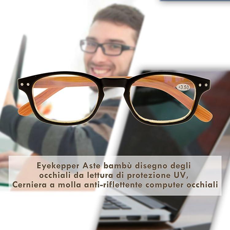 Blu Le signore Occhi di Gatto Lettori di Computer Eyekepper Blocco Luce Blu Occhiali da Lettura Donne con Lente Filtro Gialla 0.50