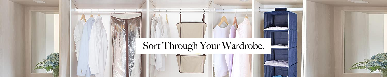 Pack of 2 5-Pocket STORAGE MANIAC Clothes Hanging Closet Leather Organizer