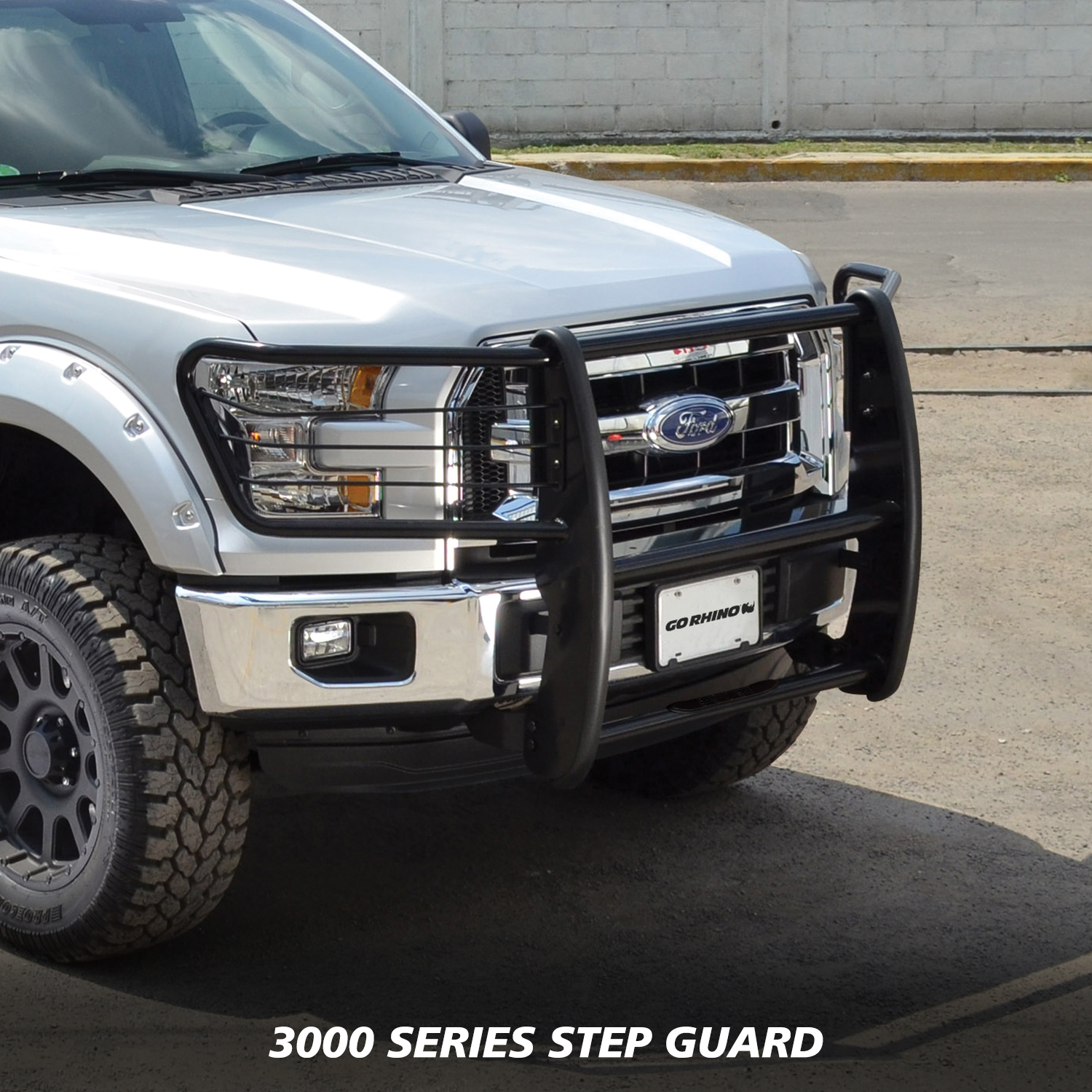 Go Rhino! 3153MB 3000 Series StepGuard Grille and Brush Guard
