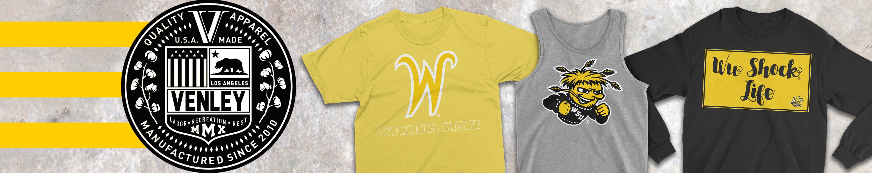 RYLWIC15 Mens//Womens Boyfriend Long Sleeve Tee University Shockers Official NCAA Wichita State
