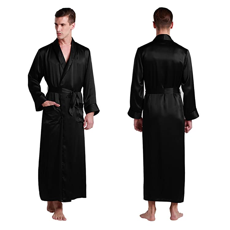 1155518b7b794 This luxurious men silk robe brings softness and comfort to your daily  routine.