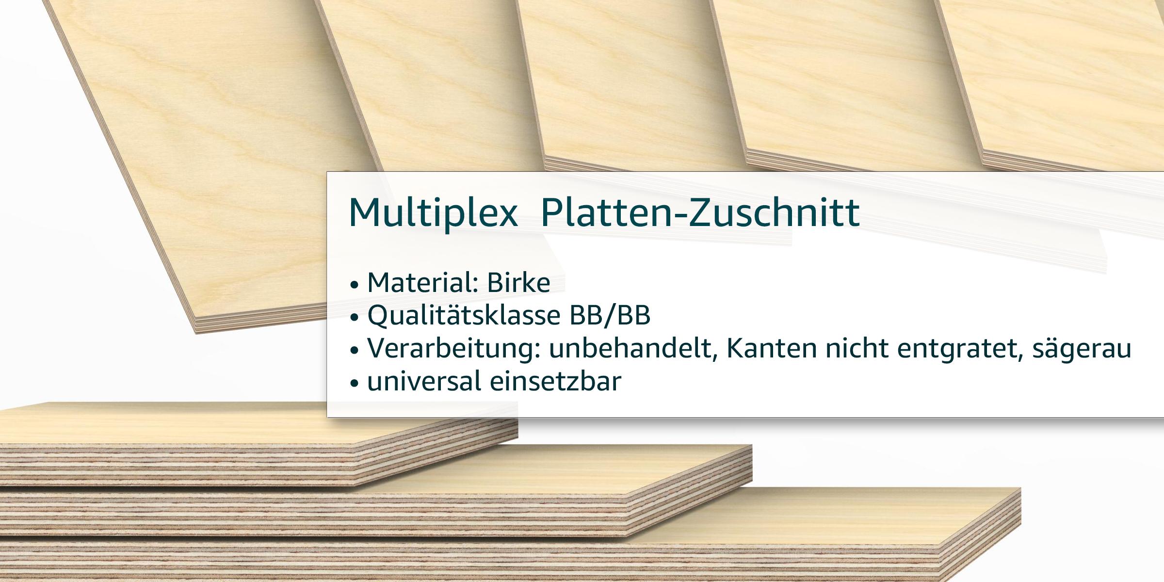 170x10 cm 6,5mm Multiplex Zuschnitt L/änge bis 200cm Multiplexplatten Zuschnitte Auswahl