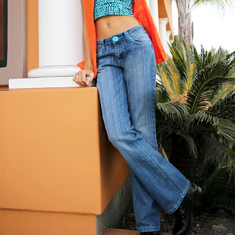 Sweet Vibes Junior Womens Skinny Jeans Stretch Denim Nail Head Rivet Trim
