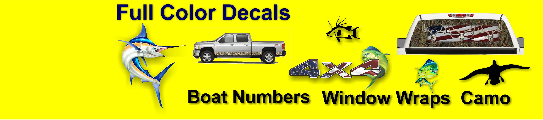 Truck Tailgate Wrap Decal  Boat Trolling 3m Vinyl 7Yr