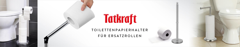 Rostresistent Klopapierrollenhalter Edelstahl Tatkraft Clara 10123 Toilettenpapierst/änder Silber Stabil 4 Rollen 15x53CM Max