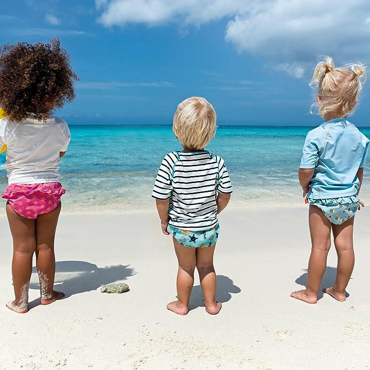 mehrfarbig 6 Monate L/ÄSSIG Baby Kinder Badeshorts Schwimmshort Badehose integrierte Schwimmwindel Schwimmbekleidung waschbar Junge UV-Schutz 50+//Splash und Fun Board Shorts Blue Whale