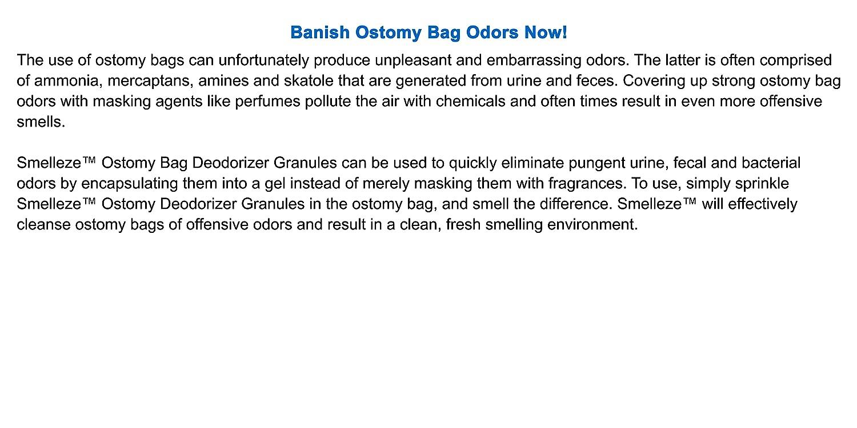 Amazon com: SMELLEZE: Ostomy Odor